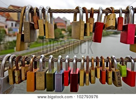 Love-Locks, Bamberg, Germany, Bavaria, September 2015