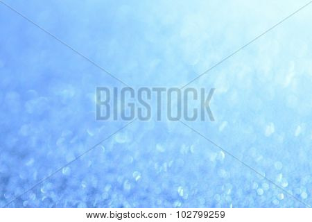 The abstract bright blue Background bokeh effect