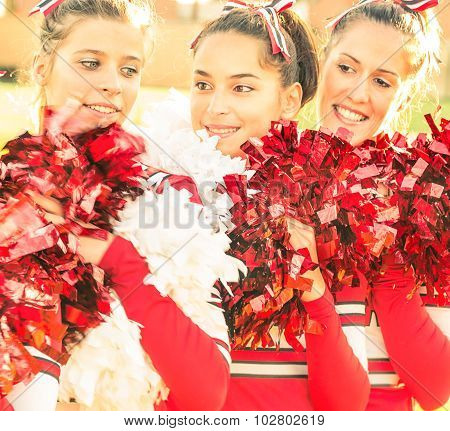Cheerleaders in Action - Moment Of Relax