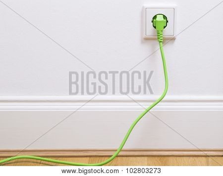 Power socket with plug