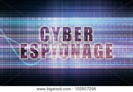 Cyber Espionage on a Tech Business Chart Art