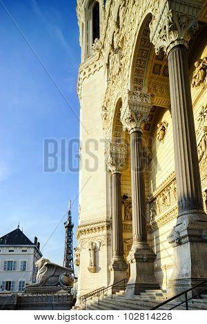 Basilique Notre-dame De Fourviere In Lyon, France