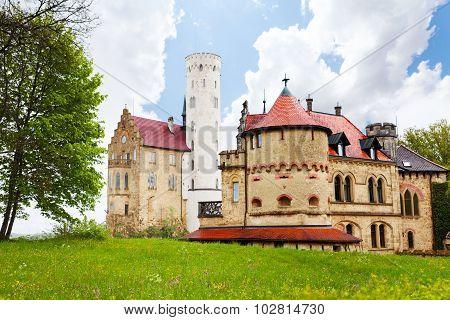 Old castle in Lichtenstein, Germany