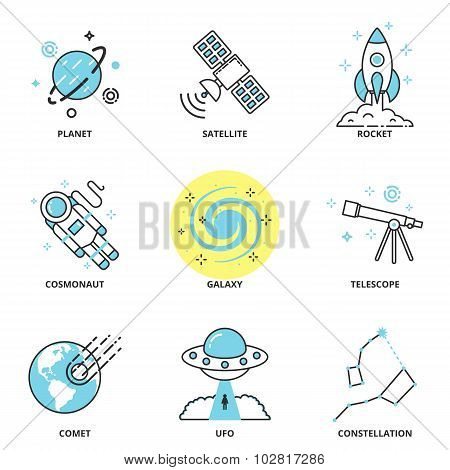 Space Vector Icons Set