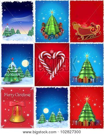 Christmas Illustrations Set