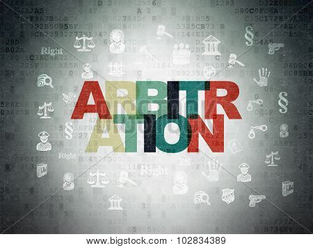 Law concept: Arbitration on Digital Paper background
