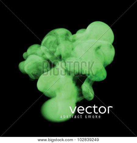 Vector Illustration Of Green Smoke