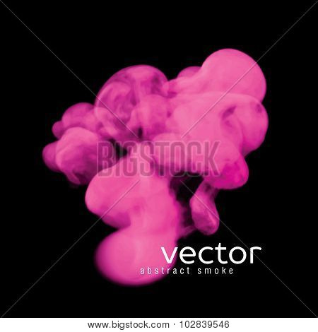 Vector Illustration Of Pink Smoke