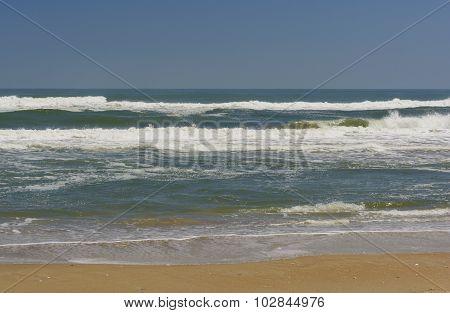 Crashing Waves On An Ocean Coast