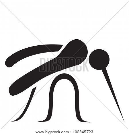 Stylized Mosquito - Vector illustration