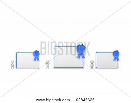 Three 3D Characters With Diplomas