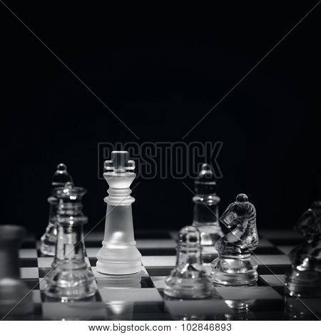 Chess game with checkmate concept for winning, business strategy, competition and success