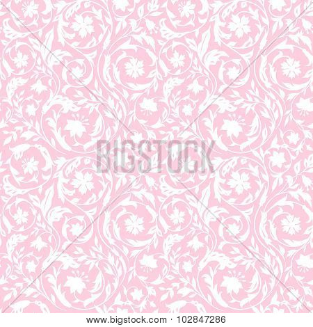 Vintage Floral seamless pattern with stylized wildflowers.