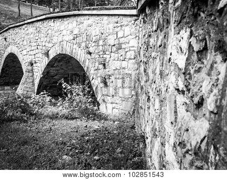 Black-and-White Image of Burnside Bridge, Antietam