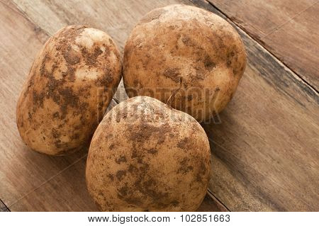 Unwashed Fresh Farm Potatoes