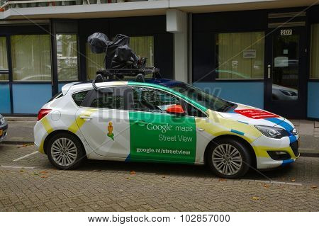 ROTTERDAM, THE NETHERLANDS -  SEPTEMBER 17: Google Street View camera car in Rotterdam, 17th of September, 2015.