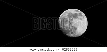 Moon near to its full size of approximately 96% as seen from Bangalore, India on September 26th 2015