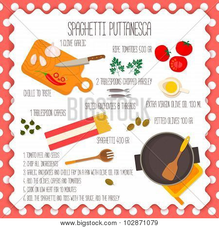 lat design square banner of recipe italian traditional cuisine