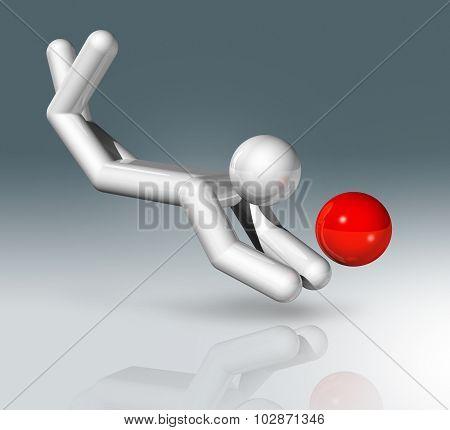 Beach Volleyball 3D Symbol, Sports