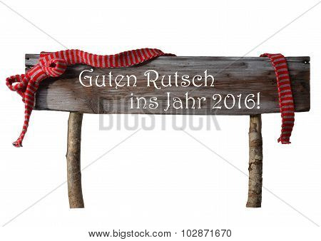 Isolated Christmas Rutsch Neues Jahr Mean New Year, Red Ribbon