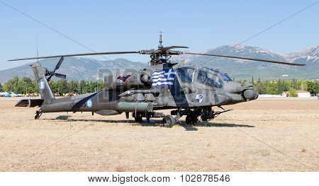 AH-64A+ Apache attack helicopter
