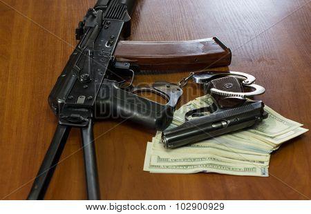 Selling gun for dollars.