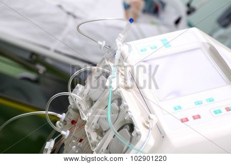 Hemodialysis Machine In The Ward