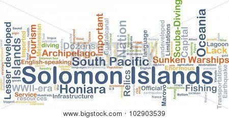 Background concept wordcloud illustration of Solomon Islands