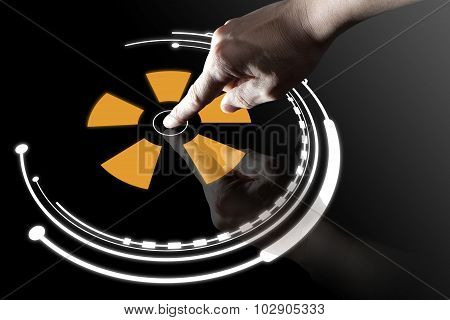 Finger Touch Virtual Button