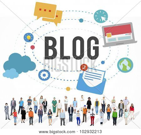 Blog Blogging Media Messaging Social Media Concept