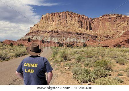 Desert Crime Scene