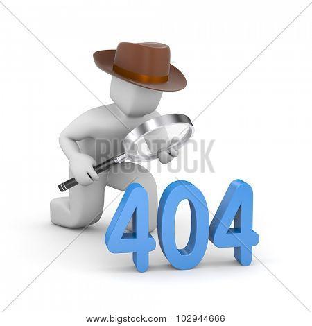 Detective investigates 404 error poster