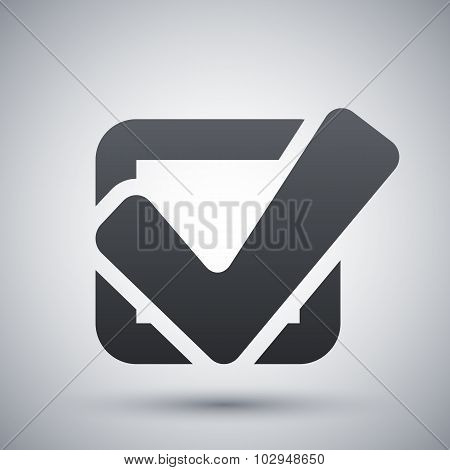 Vector Tick Check Box Icon