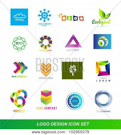 Logo Design Elements Icon Set
