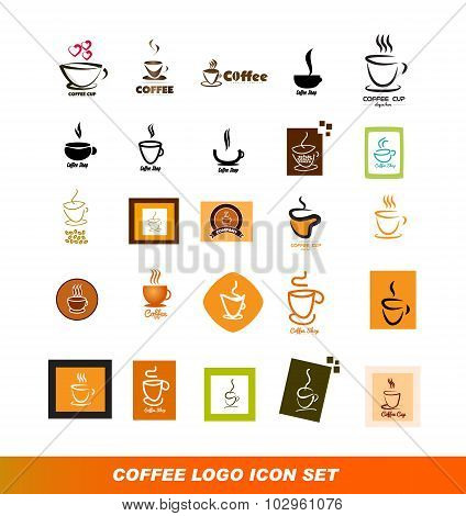 Coffee Logo Icon Set