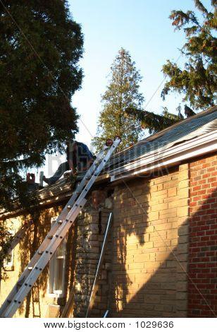 Man Fixing Roof 2