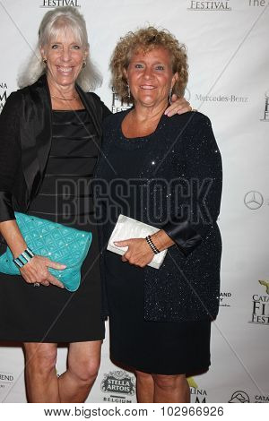 LOS ANGELES - SEP 25: An unidentified guest with Blanny Avalon Hagenah at the Catalina Film Festival Friday Evening Gala at the Avalon Theater on September 25, 2015 in Avalon, CA