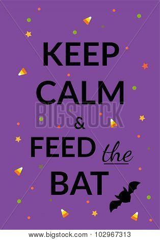 Keep calm halloween poster or card