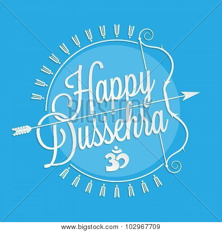 Happy Dussehra lettering for your greeting card design poster