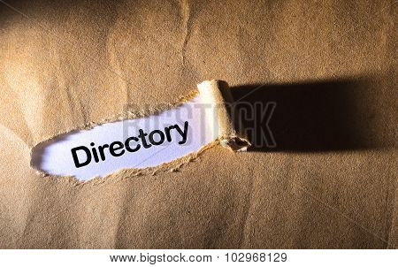 Torn Paper With Word Directory
