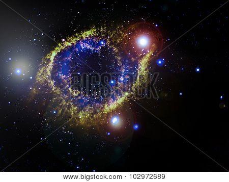 Helix Nebula (NGC 7293), a planetary nebula located 700 light-years away. Elements of this image furnished by NASA
