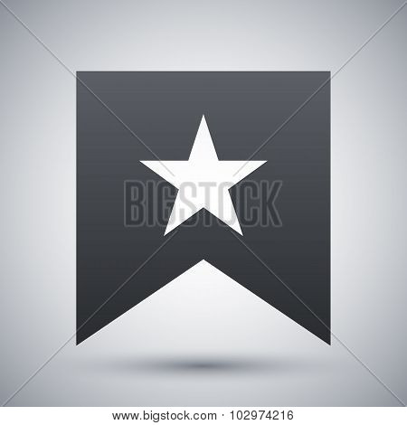 Vector Flag With Star Icon