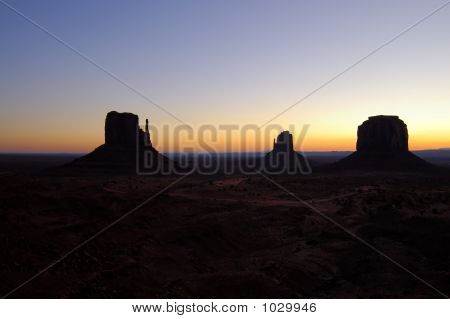 Dawn In The Monument Valley - Mittens