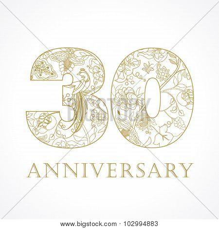 30 anniversary vintage numbers