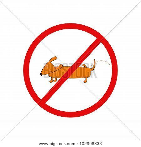 Pissing Dog Prohibition Sign