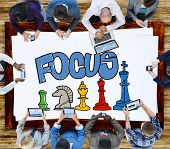 Focus Focal Concentration Attention Concept poster