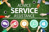 Advice Service Assistance Customer Care Support Concept poster