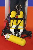 Self Contained Breathing Apparatus With Compressed Air For Firefighters poster