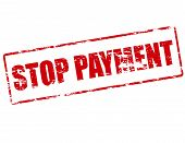 Rubber stamp with text stop payment inside vector illustration poster
