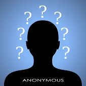 Anonymous internet user picture, vector clip art poster